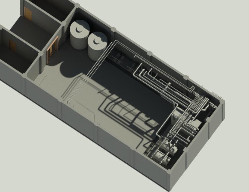 آیزومتریک -تاسیسات - موتورخانه