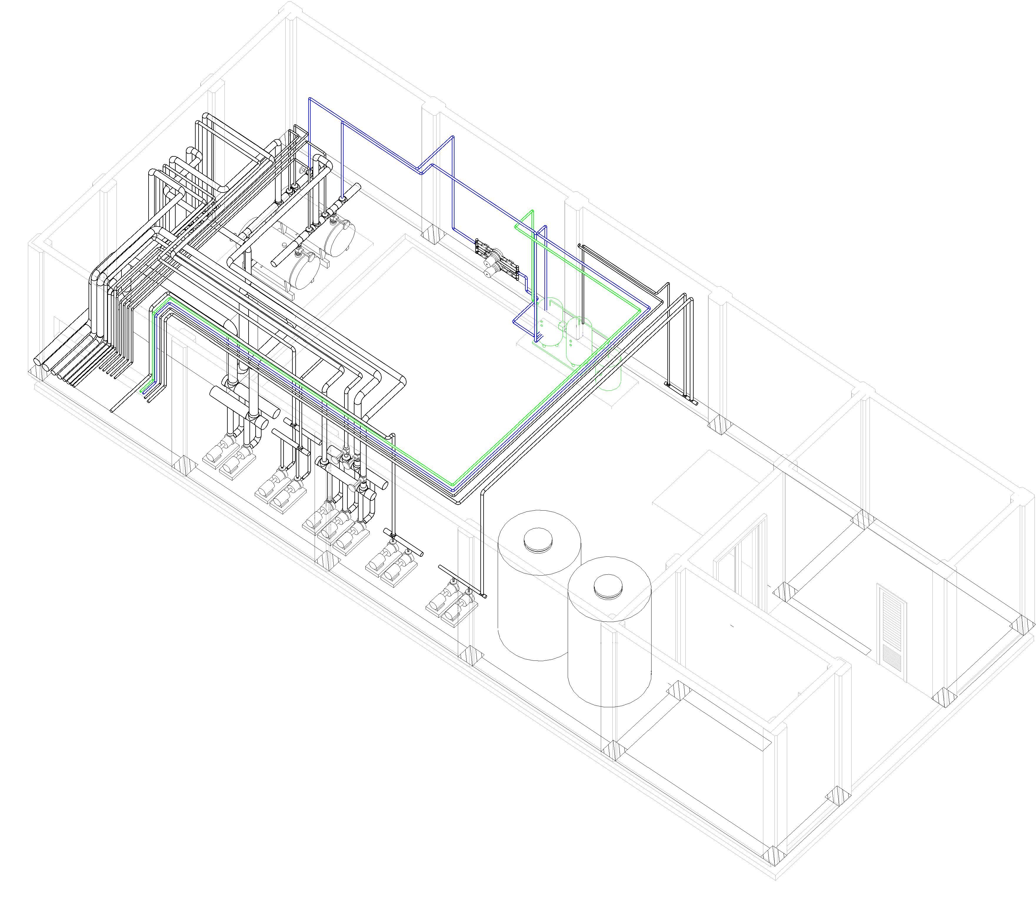 مدلسازی -رویت- ساختمان- موتورخانه